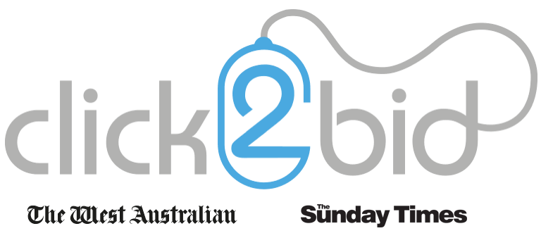 Click2Bid - The West Australian & Sunday Times logo